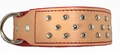 Russet Leather Dog Collar with Studs