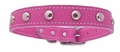 1 inch Pink Leather Stud Dog Collars