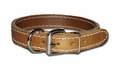 Dee-in-Front Two-Ply Leather Dog Collar 3/4 Inch Wide