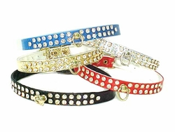 Rhinestone Dog Collars1/2 in wide -Vinyl