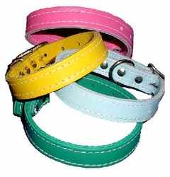 "3/4"" Wide Leather Dog Collars"