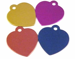 Two Sided Heart Shaped Dog Tag