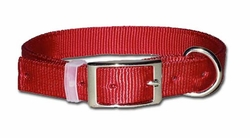 Dee in Front Nylon Dog Collar 1 Inch Wide Size 26 28 30