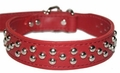 Red Leather with Studs