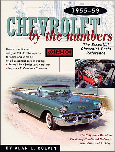 Chevrolet By The Numbers 1955-1959; chevrolet vin numbers