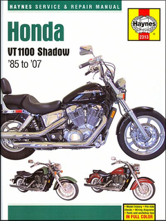 Honda VT1100 Shadow Repair Manual 1985-2007