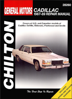 Cadillac DeVille, Eldorado, Fleetwood, Seville Repair Manual 1967-1989