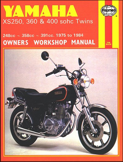 Yamaha XS250, XS360, XS400 Repair Shop Manual 1975-1984