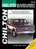 Chevy Blazer, GMC Jimmy Repair Manual 1969-1982
