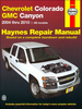 Chevrolet Colorado, GMC Canyon Pickup Truck Repair Manual 2004-2010