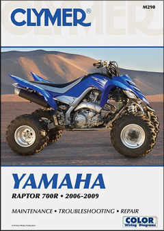 Yamaha Raptor 700R YFM700R, YFM70R, YFM70RSE Repair Manual 2006-2009