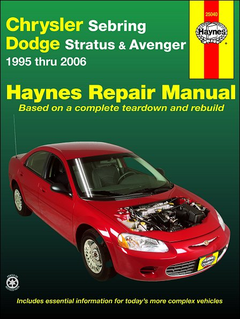 Chrysler Sebring, Dodge Stratus, Avenger Repair Manual 1995-2006