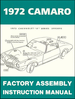 1972 Chevrolet Camaro Factory Assembly Instruction Manual