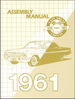 1961 Chevrolet Factory Assembly Instruction Manual