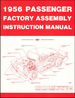 1956 Chevrolet Passenger Car Factory Assembly Instruction Manual