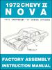 1972 Chevy II Nova Factory Assembly Manual