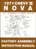 1971 Chevy II Nova Factory Assembly Manual