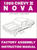 1969 Chevy II Nova Factory Assembly Manual
