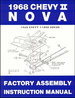 1968 Chevy II Nova Factory Assembly Manual