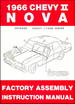 1966 Chevy II Nova Factory Assembly Instruction Manual