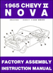 1965 Chevy II Nova Factory Assembly Instruction Manual