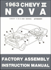 1963 Chevy II Nova Factory Assembly Instruction Manual
