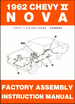 1962 Chevy II Nova Factory Assembly Instruction Manual