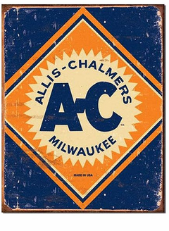 """Allis-Chalmers A-C Milwaukee"" Tin Sign"