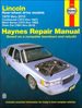 Lincoln Rear-Wheel Drive Models Repair Manual 1970-2010