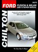 Ford Fusion, Mercury Milan Repair Manual 2006-2010