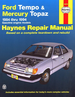 Ford Tempo, Mercury Topaz Haynes Repair Manual 1984-1994