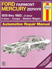Ford Fairmont, Mercury Zephyr Haynes Repair Manual 1978-1983