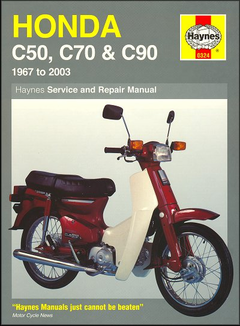 Honda C50, C70, C90 Repair Manual 1967-2003
