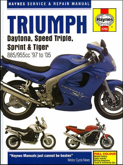 Triumph Daytona, Speed Triple, Sprint, Tiger Shop Manual 1997-2005