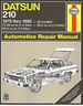 Datsun 210 Repair Manual 1979-1982