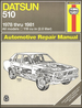 Datsun 510 Repair Manual 1978-1981