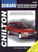 Subaru Brat, Impreza, Justy, Legacy, Loyale, Outback, Sedan, Std, SVX, Wagon, XT, XT-6 Repair Manual 1985-1996