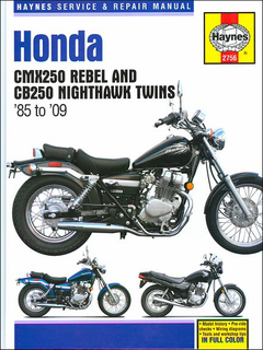 Honda CMX250 Rebel, CB250 Nighthawk Twins Repair Manual 1985-2009