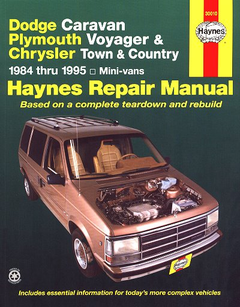 Dodge Caravan, Plymouth Voyager, Chrysler Town & Country Repair Manual 1984-1995