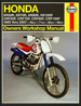 Honda XR50R/100R, CRF50F/100F Repair Manual 1985-2007