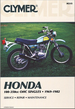Honda CB100, XL125, CB125, XL250, XL175, CT125, SL100, SL125, XL100, TL125, CL100, TL250 Repair Manual 1969-1982