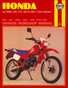 Honda XL/XR80, 100, 125, 185, 200 Repair Manual 1978-1987