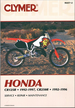 Honda CR125R 1992-1997, CR250R 1992-1996 Repair Manual