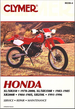 Honda XR200R 1984-1985, XL250, XR250 1978-2000, XL350, XR350 1983-1985 Repair Manual