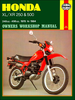 Honda XL250, XR250, XL500, XR500 Repair Manual 1978-1984