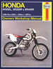 Honda XR250L, XR250R, XR400R Repair Manual 1986-2003