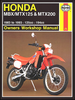 Honda MBX125, MTX125, MTX200 Repair Manual 1983-1993
