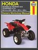 Honda TRX300, 400EX, 450R, 450ER Repair Manual 1993-2006