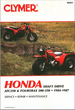 Honda TRX200, ATC250, Fourtrax 250 ATV Repair Manual 1984-1987
