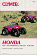 Honda ATC70, ATC90, ATC110, ATC125, Fourtrax 70, 125, TRX125 ATV Repair Manual 1970-1987